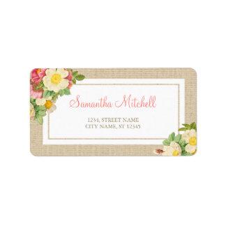 Vintage Floral Rustic Address Labels