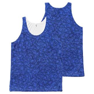 Vintage Floral Sapphire Blue