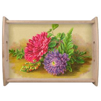 Vintage Floral Serving Tray