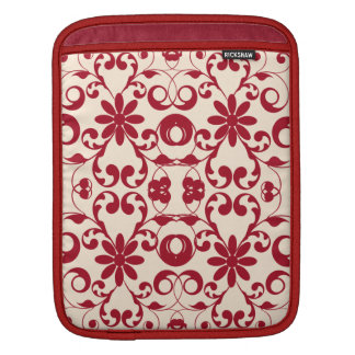 Vintage floral shabby and chic pattern iPad sleeve