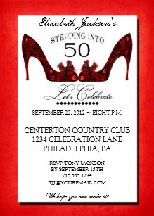 Vintage 50th birthday invitations announcements zazzle ca vintage floral shoe 50th birthday invitation filmwisefo