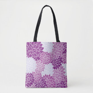 Vintage Floral Shoulder Tote Bag