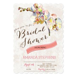Vintage Floral Spring Bridal Shower Invitations
