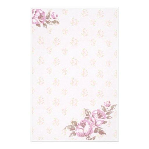 Vintage Floral Stationery Paper