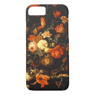 Vintage Floral Still Life - Abraham Mignon iPhone 7 Case