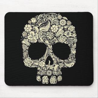 Vintage Floral Sugar Skull Mouse Pad