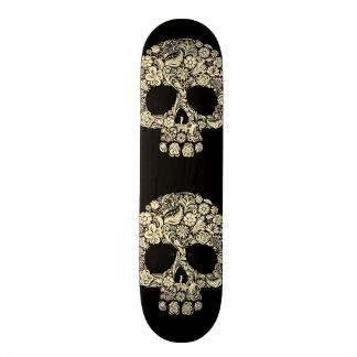 Vintage Floral Sugar Skull Skate Board Deck