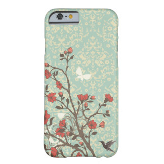 Vintage floral swirls damask + bird iPhone 6 case Barely There iPhone 6 Case