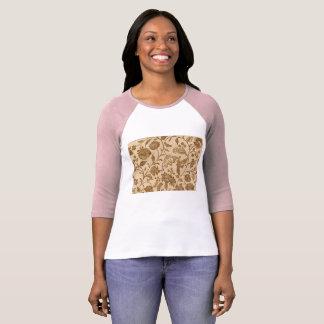 Vintage Floral T-shirt Design Paper Pattern