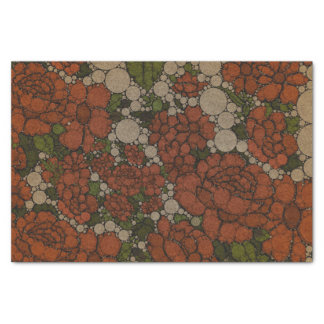 Vintage Floral Texture Abstract Tissue Paper