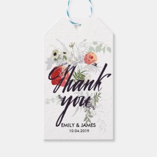 Vintage Floral Thank You Gift Tags