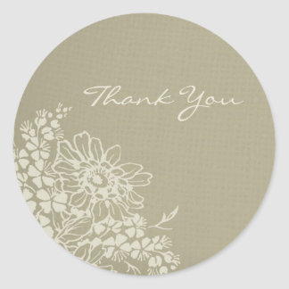 Vintage Floral Thank You Wedding Envelope Seals