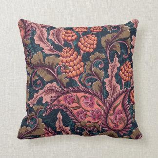 Vintage Floral Throw Pillow