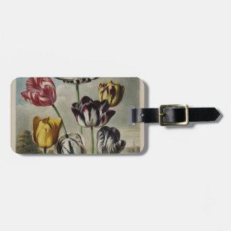 Vintage Floral Tulip Painting Luggage Tag