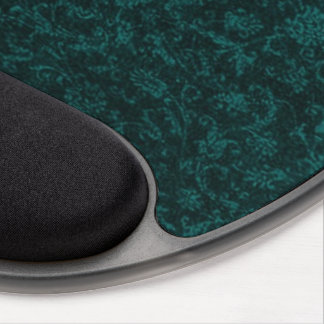 Vintage Floral Turquoise Teal Gel Mouse Pad