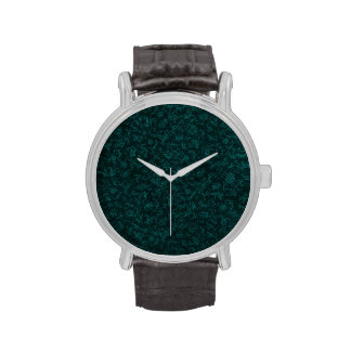 Vintage Floral Turquoise Teal Watches
