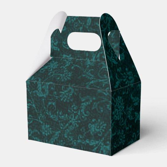Vintage Floral Turquoise Teal Wedding Favor Boxes