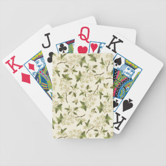 Vintage Floral Wallpaper Bicycle Playing Cards