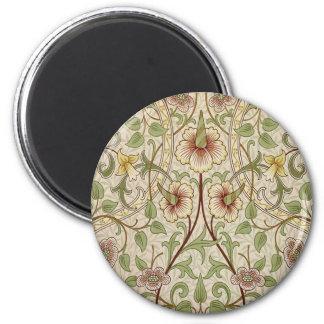 Vintage Floral Wallpaper Design - Daffodil 2 Inch Round Magnet