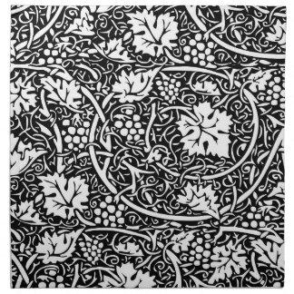 Vintage Floral Wallpaper Grape Pattern Napkin