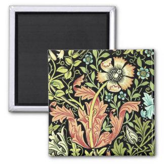 Vintage Floral Wallpaper Magnet