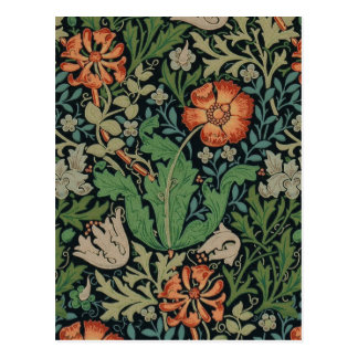 Vintage Floral Wallpaper Trendy Morris Compton Postcard