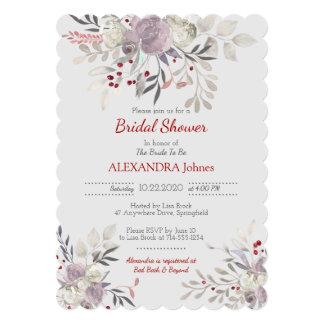 Vintage Floral Watercolor Botanical Bridal Shower Card