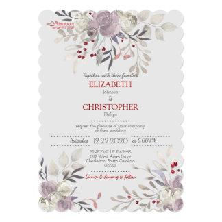 Vintage Floral Watercolor Botanical Wedding 2 Card