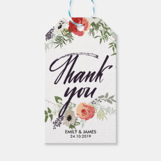 Vintage Floral Watercolor Wedding Gift Tags