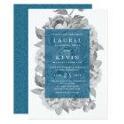 Vintage Floral Wedding Invitation | Cerulean