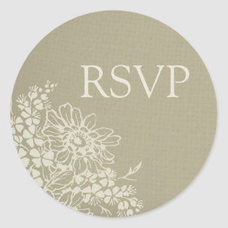 Vintage Floral Wedding RSVP Envelope Seals