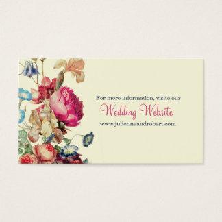 Vintage Floral Wedding Simple RSVP Website Card