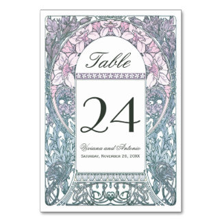 Vintage Floral Wedding Table Numbers V (v.1) Table Cards