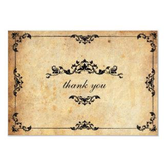 "Vintage Floral Wedding Thank You Card 3.5"" X 5"" Invitation Card"