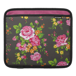 Vintage Floral with Pink Roses Sleeves For iPads