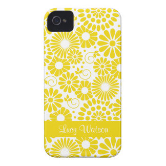Vintage floral yellow BlackBerry Bold Case
