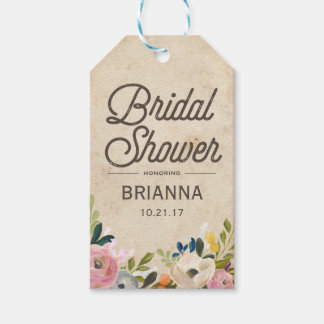 Vintage Florals | Bridal Shower Gift Tag Pack Of Gift Tags