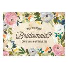 Vintage Florals   Bridesmaid Card