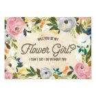 Vintage Florals   Flower Girl Card