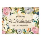 Vintage Florals   Junior Bridesmaid Card