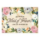 Vintage Florals   Maid of Honour Card