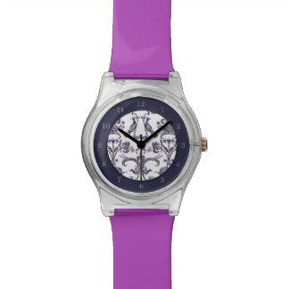 Vintage Florentine Damask (Lilac) Watch