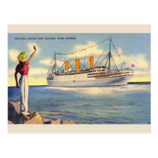 Vintage Florida Cruise Ship Post Card