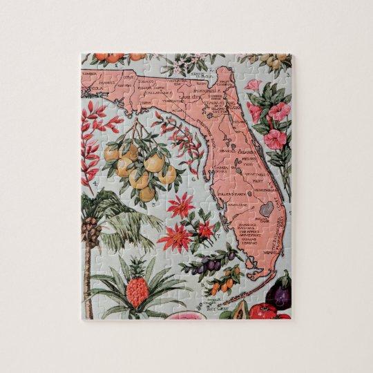 Vintage Florida Map Jigsaw Puzzle