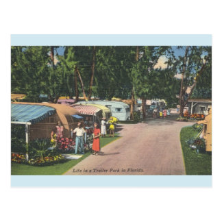 Vintage Florida Trailer Park Post Card