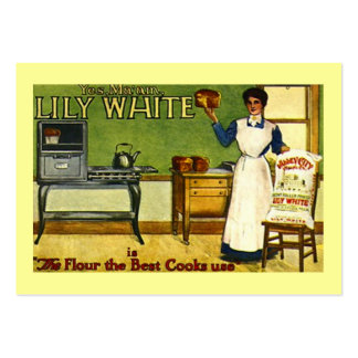 VINTAGE FLOUR ADVERTISING KITCHEN GIFT TAG CARDS LARGE BUSINESS CARD