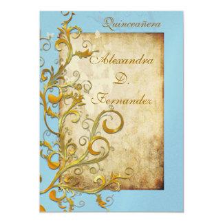 Vintage flourish swirls/butterflies card