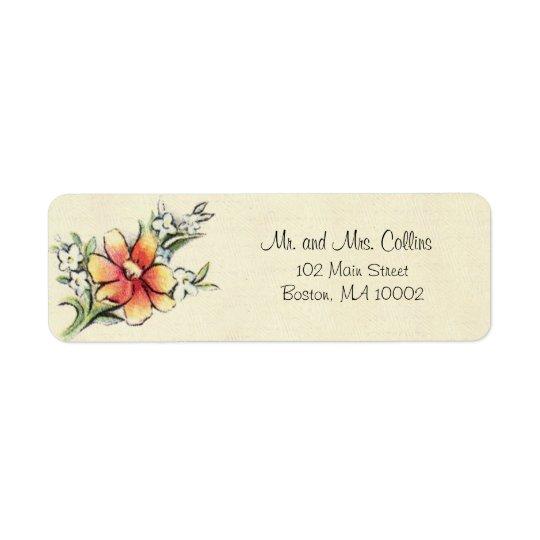 Vintage Flower Address Labels