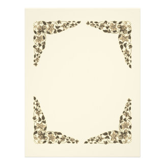 Vintage Flower Blank Book of Shadows Page
