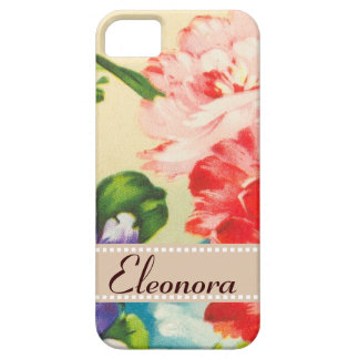 Vintage Flower Bouquet On Beige iPhone 5 Case
